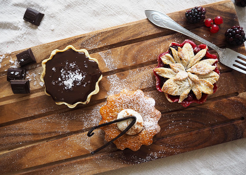 A trio of autumn tarts, Bumpkin Betty