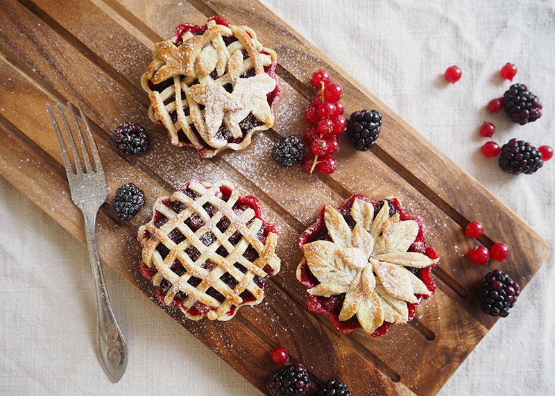 Blackberry and redberry pie recipe, Bumpkin Betty