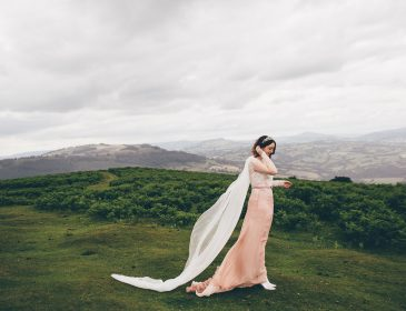 Pink wedding dress, Bumpkin Betty