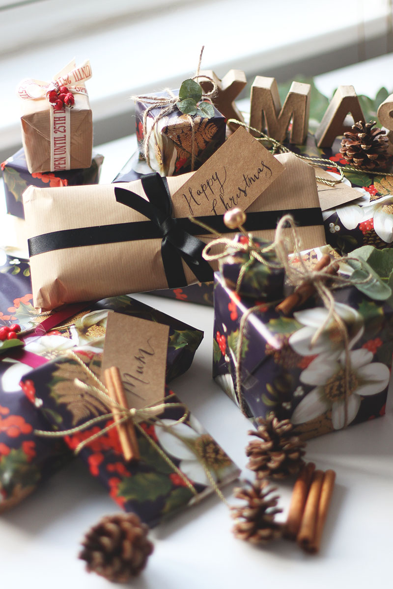 Christmas wrapping with Marks and Spencer, Bumpkin Betty