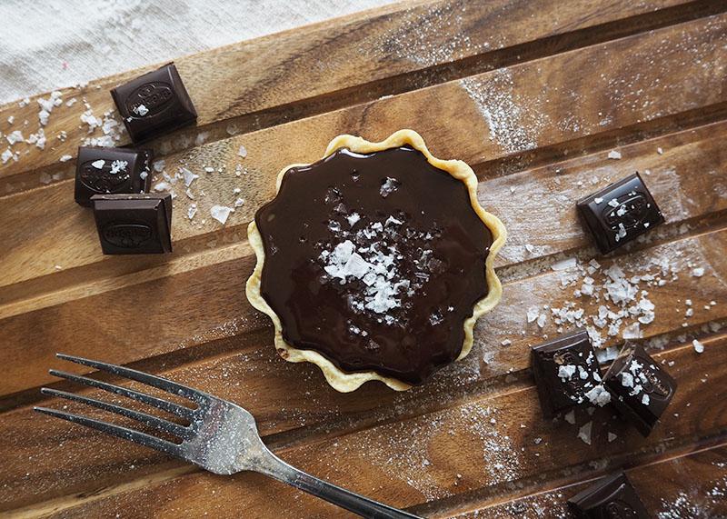 Indulgent chocolate and caramel pie, Bumpkin Betty