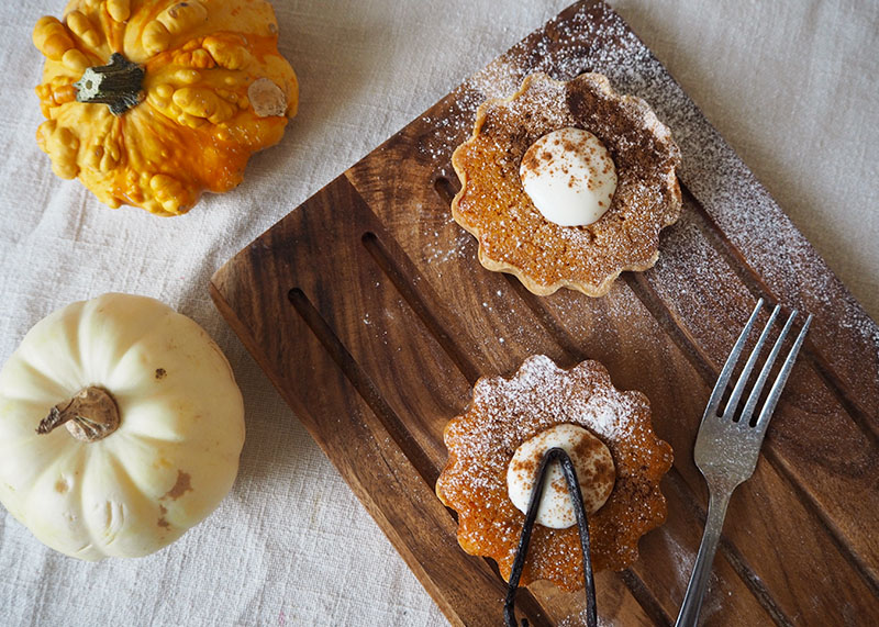 Mini Pumpkin pies, Bumpkin Betty
