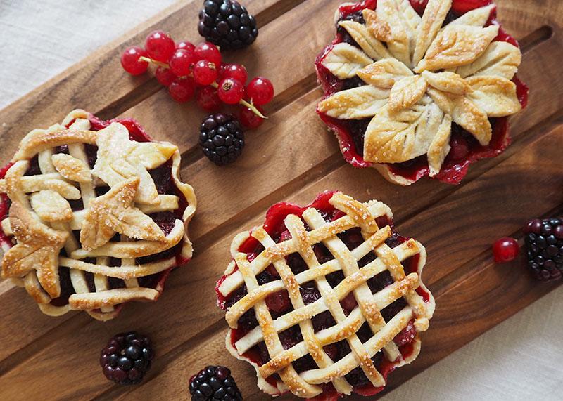 Mini bramble pie recipe, Bumpkin Betty