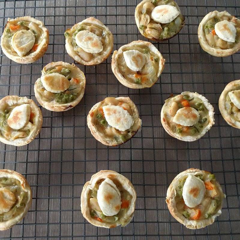 Vegan vegetable pot pies, Bumpkin Betty Baking Club