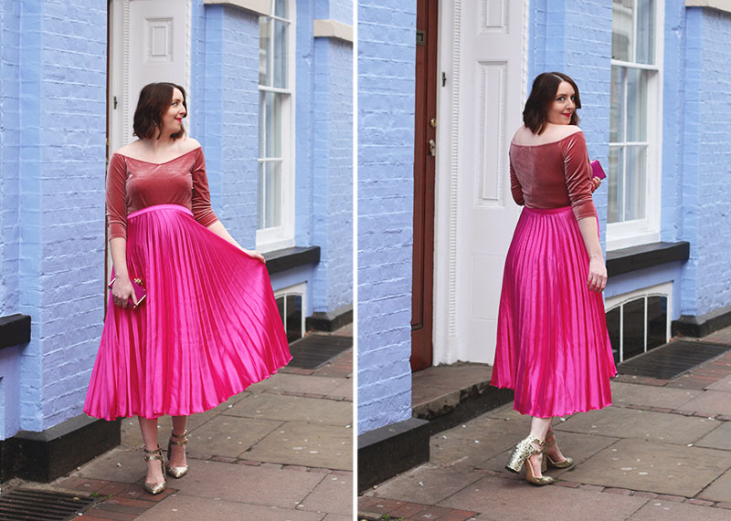 Where to shop for pleated midi skirts, Bumpkin Betty