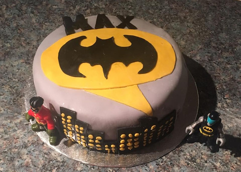 Batman birthday cake, Bumpkin betty baking club