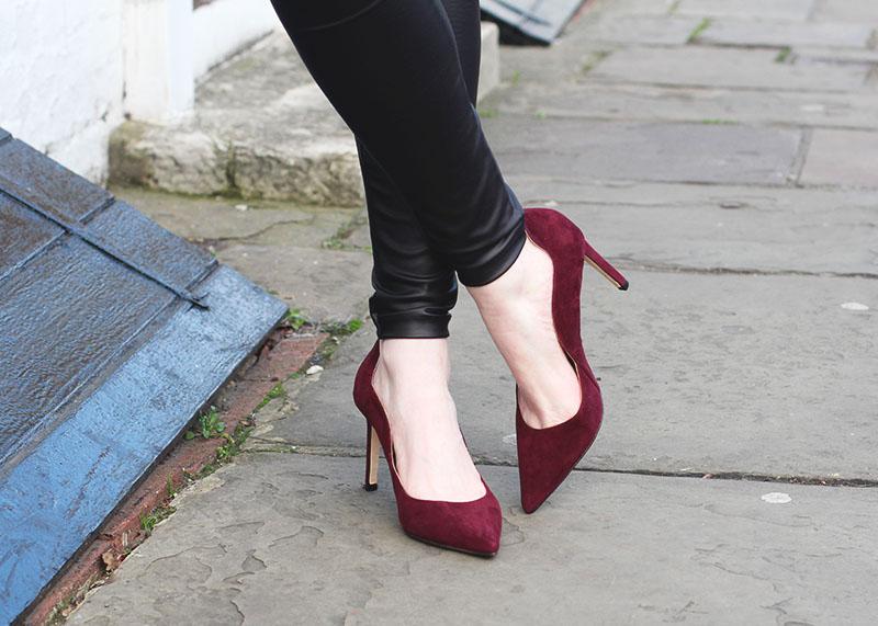 Boden burgundy heels, Bumpkin Betty