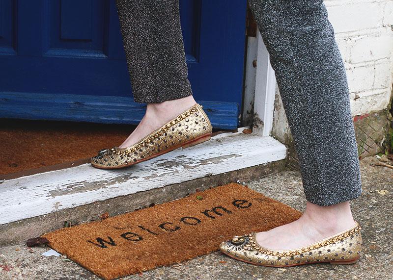 Boden sparkly flats, Bumpkin Betty