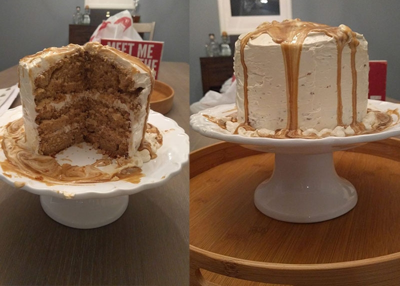 Butterscotch bourbon cake, Bumpkin Betty baking club