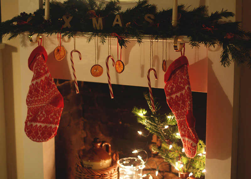 Christmas fireplace details, Bumpkin Betty