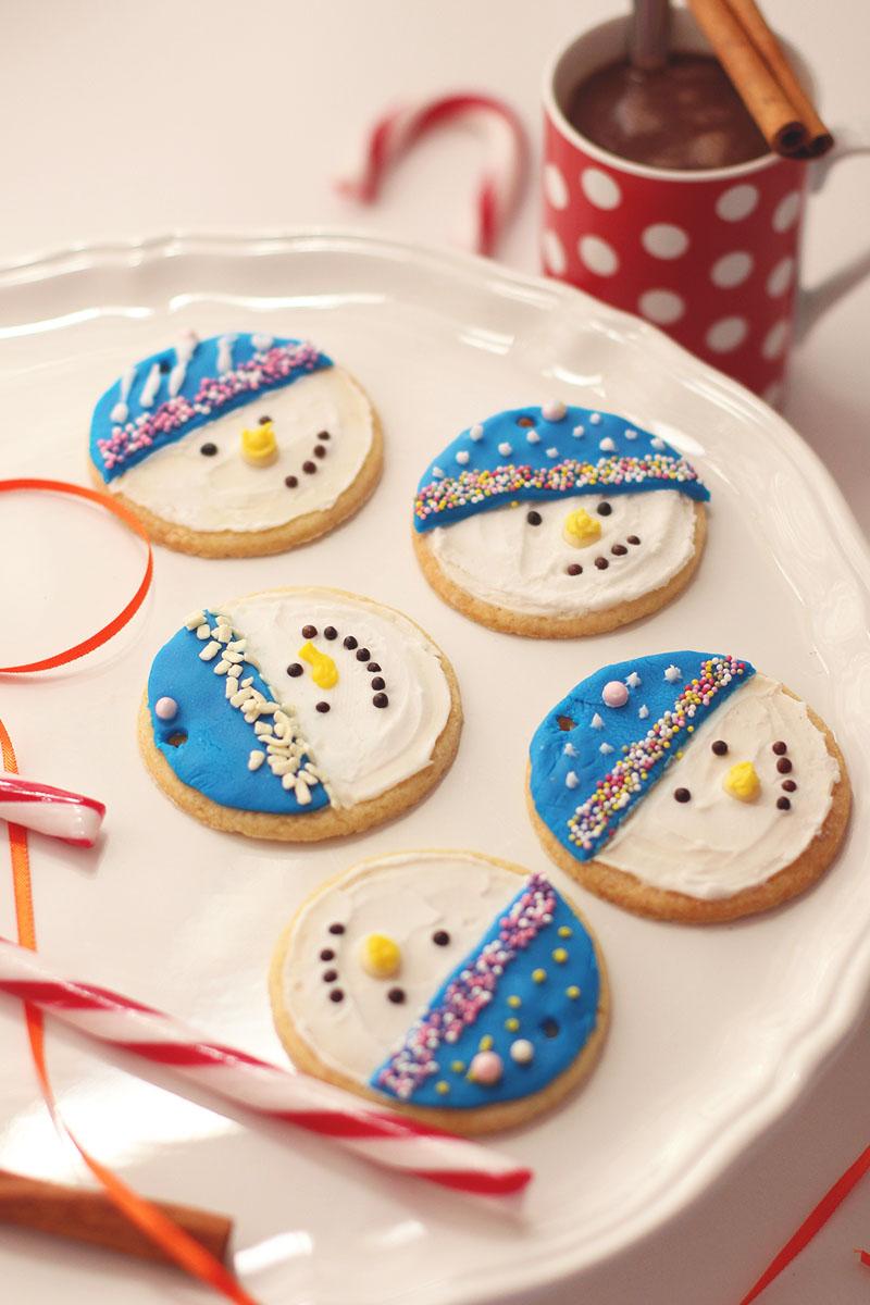 Snowmen iced cookies, Bumpkin Betty