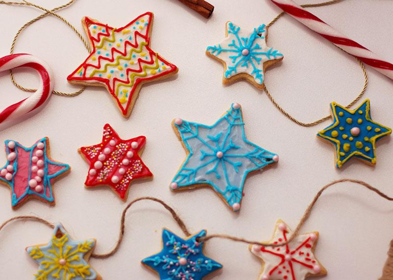 Star shaped christmas cookies, Bumpkin Betty