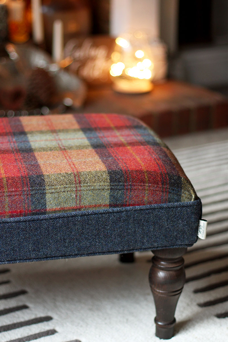 Tartan footstool, Bumpkin Betty