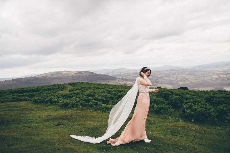 Pink wedding dress, Bumpkin Betty