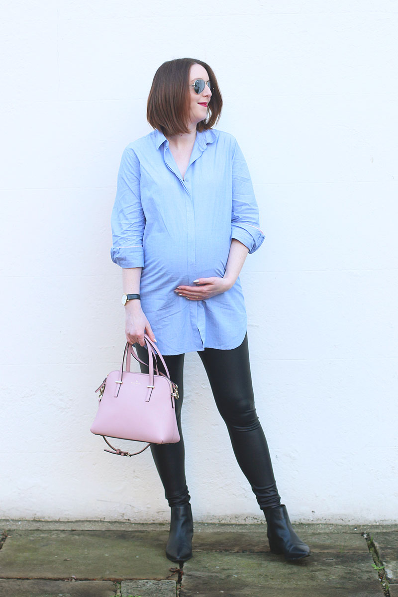 Boden oversized shirt and leggings, Bumpkin Betty