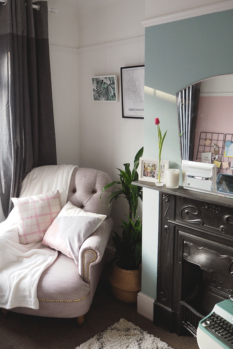 green and pink spare room, Bumpkin Betty