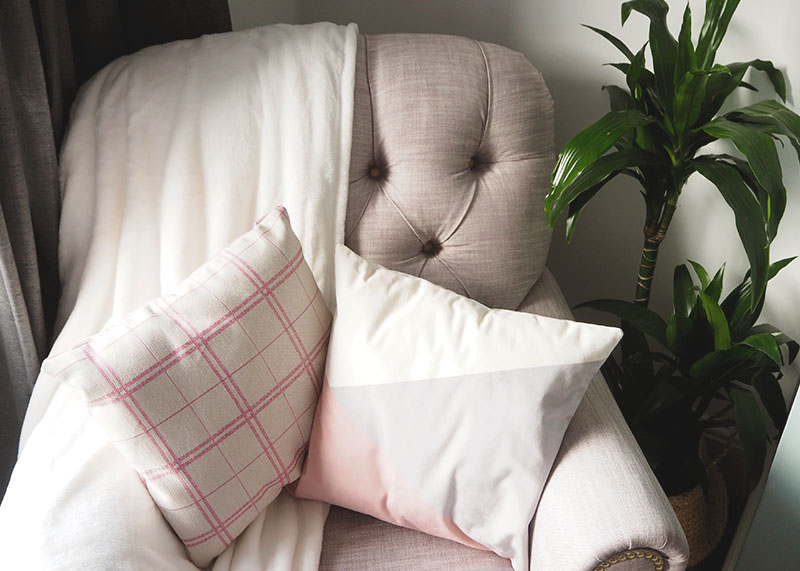 grey and pink guest room, Bumpkin betty