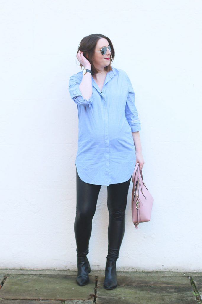 Paste blue boyfriend shirt Boden, Bumpkin Betty