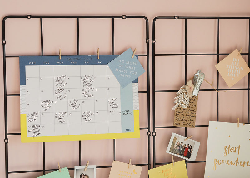 Wall grid for home office, Bumpkin Betty