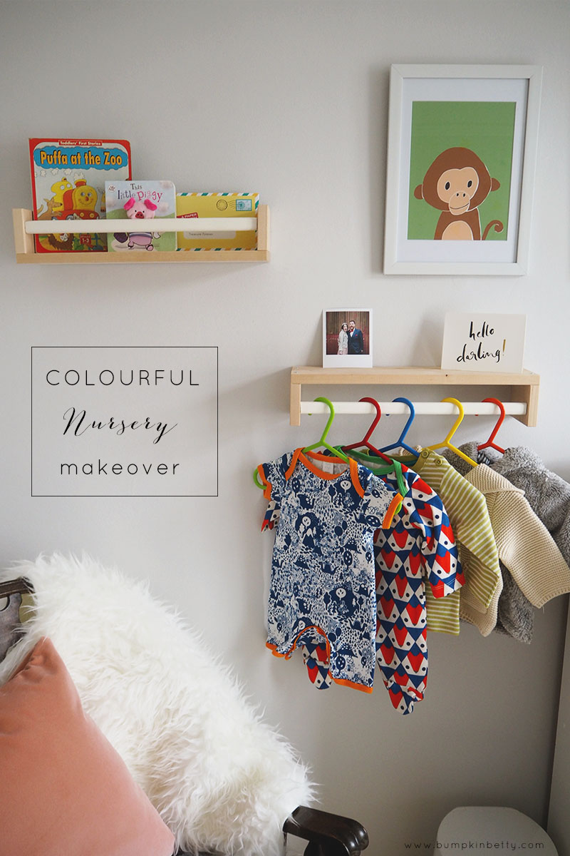 Colourful nursery makeover project, Bumpkin Betty
