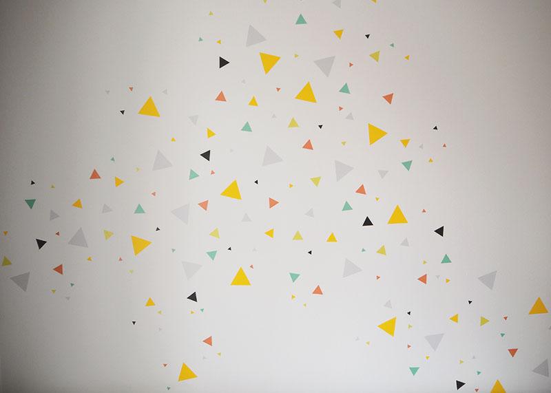 confetti triangle wall decal, Bumpkin Betty