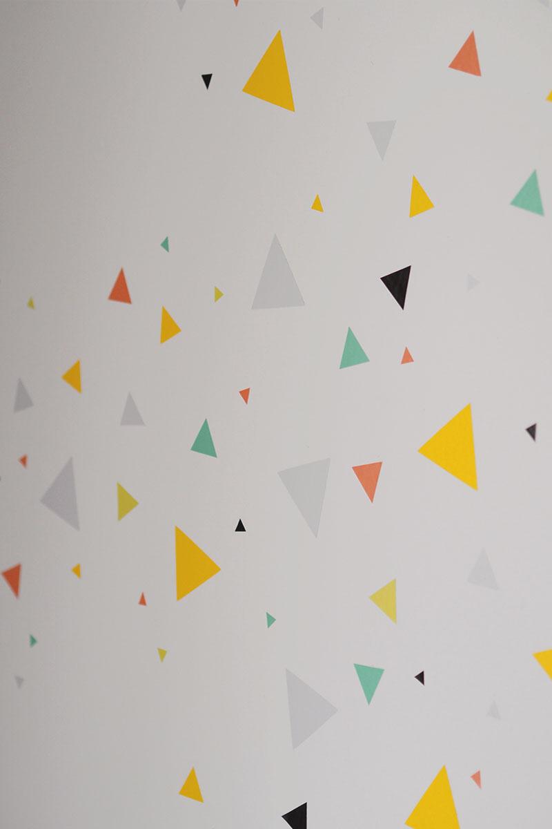 confetti triangle wall stickers, Bumpkin Betty