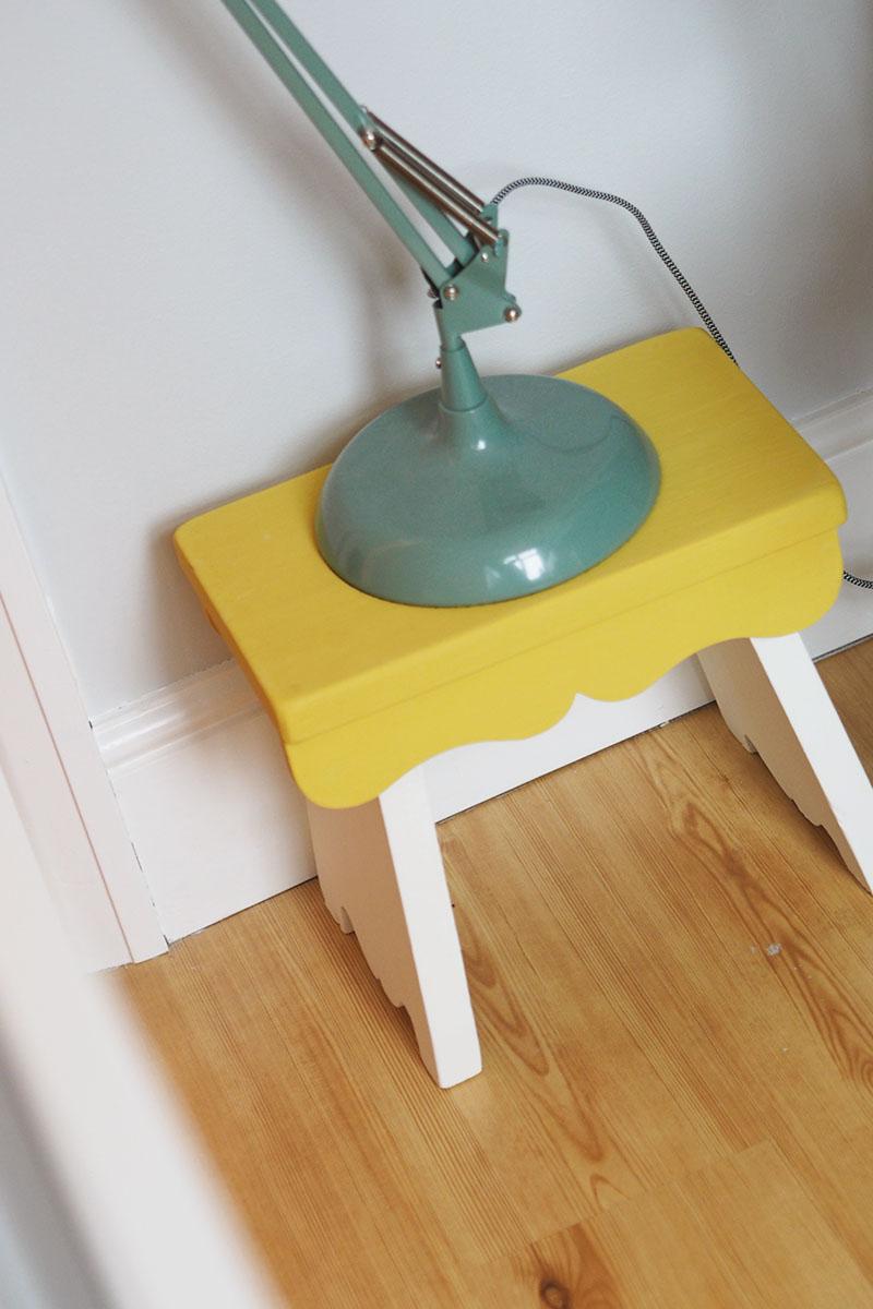 DIY annie sloan nursery stool, Bumpkin Betty