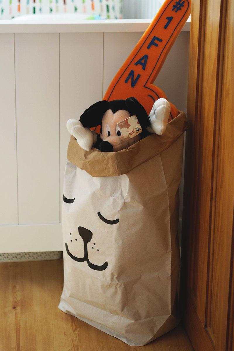 Tellkiddo sleepy bear storage bag, Bumpkin Betty