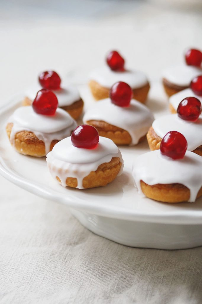 Cherry bakewell tarts recipe, Bumpkin betty
