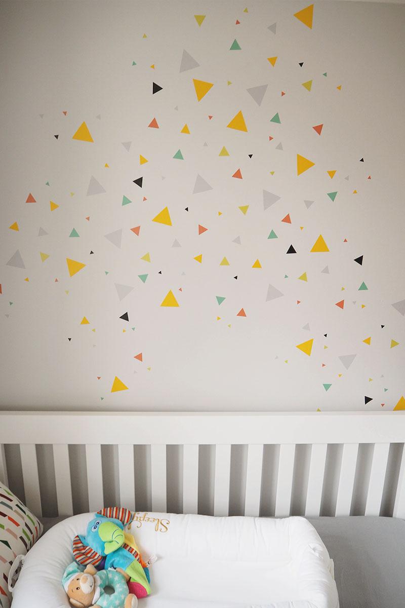 triangle wall decal for nursery, Bumpkin Betty