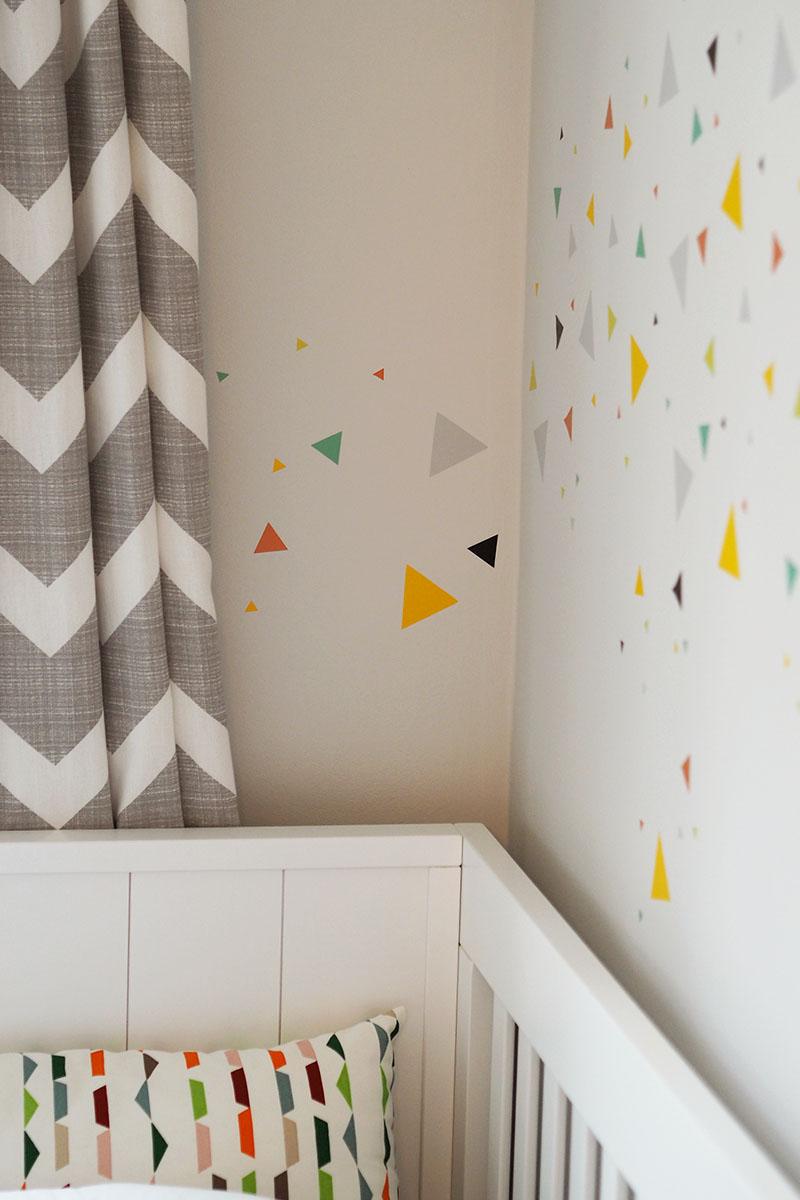 triangle wall stickers nursery, Bumpkin Betty