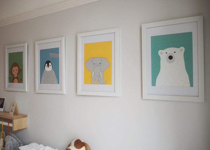 Wildlife nursery prints, Bumpkin Betty