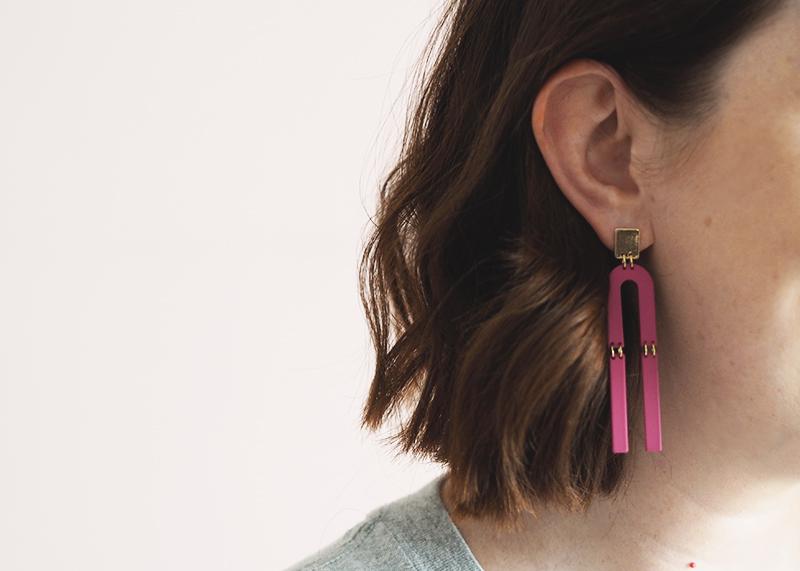 Topshop statement earrings, Bumpkin Betty
