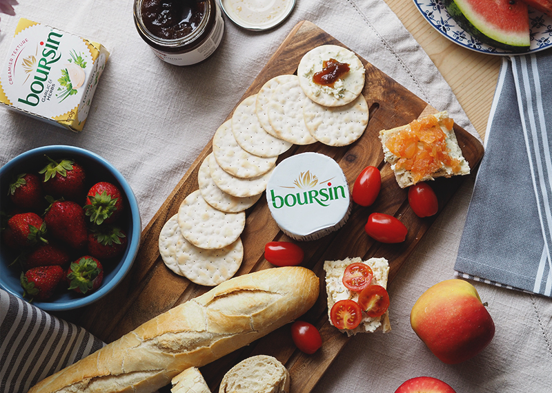 Boursin garlic and herb cheese, Bumpkin betty