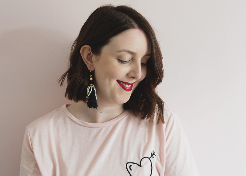 H&M statement earrings, Bumpkin Betty
