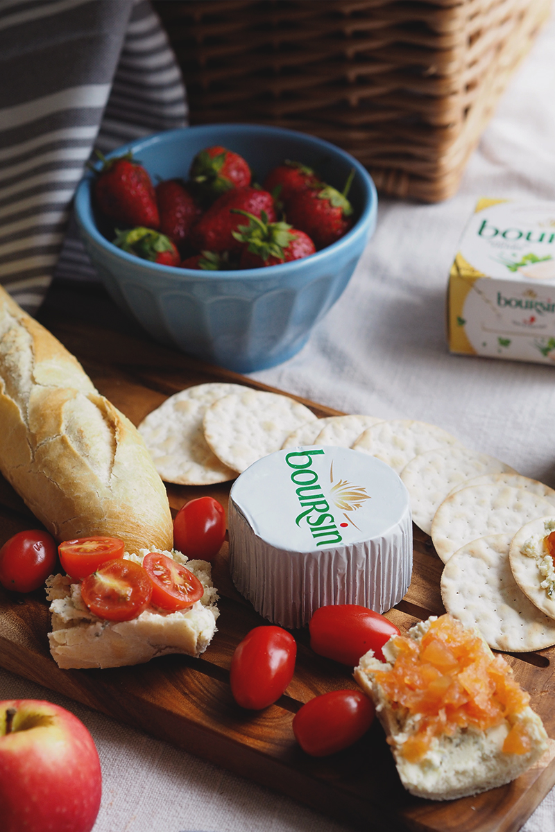 Summer snacking with Boursin cheese, Bumpkin betty