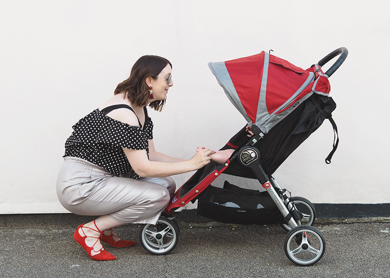 Roadtesting the City Mini Baby Jogger stroller, Bumpkin Betty