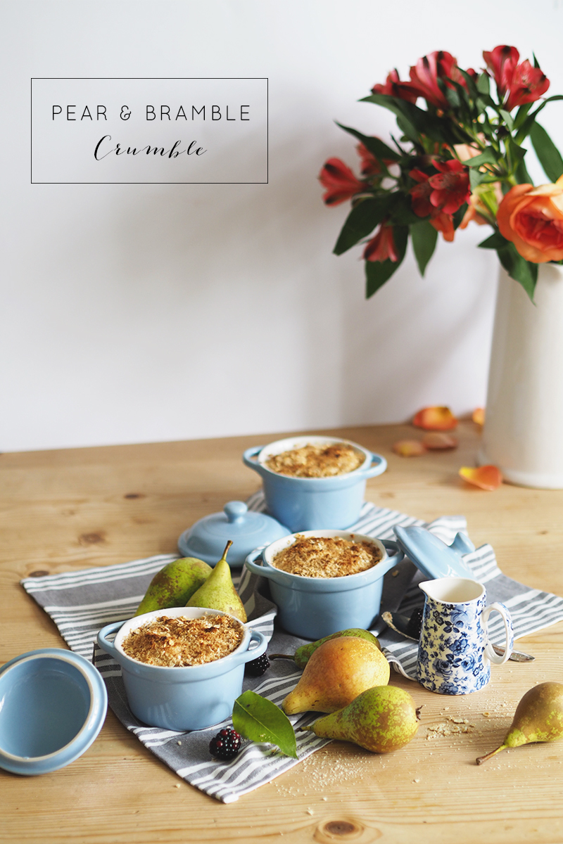 pear and bramble crumble recipe, Bumpkin Betty