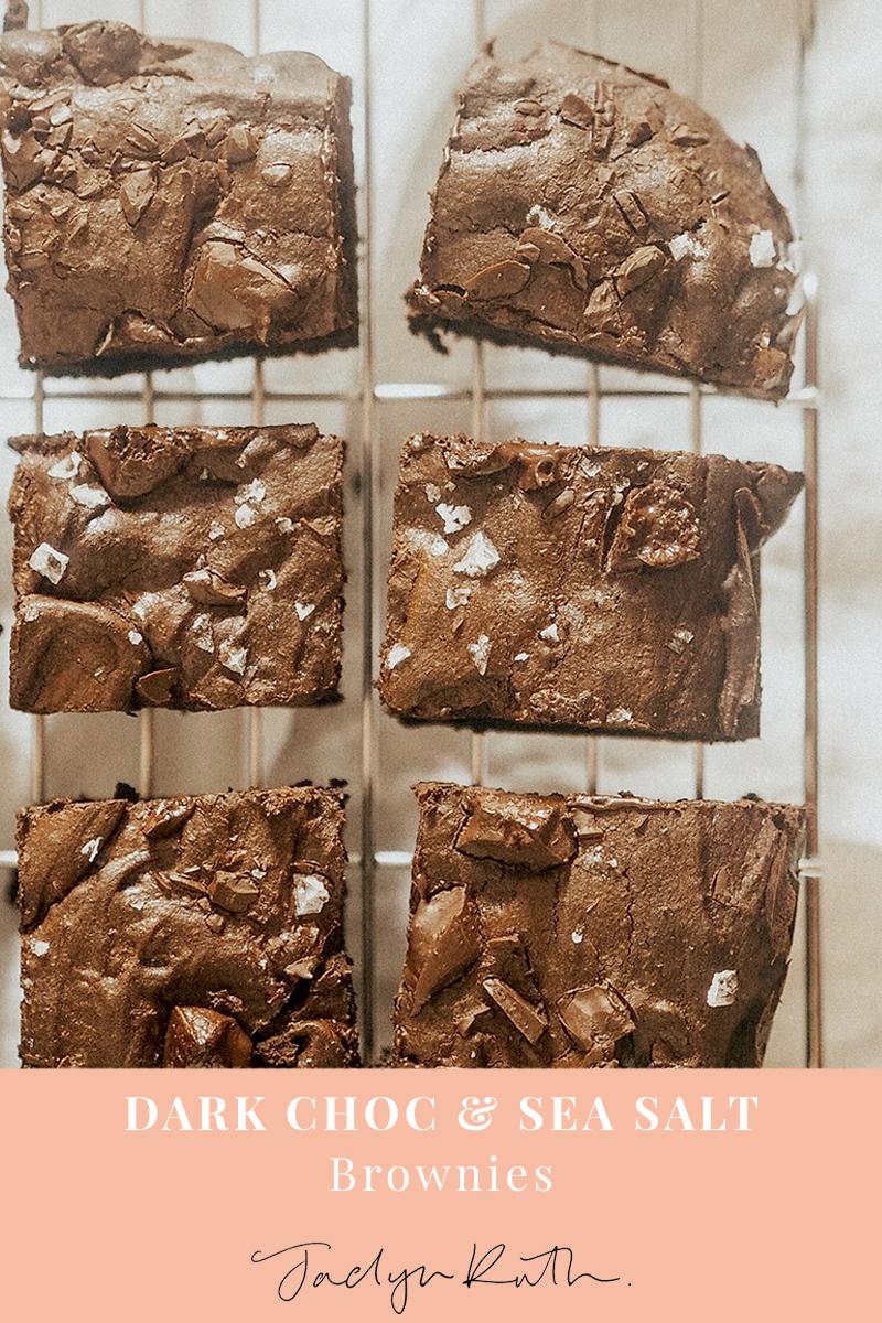 Dark chocolate sea salt brownies, Jaclyn Ruth