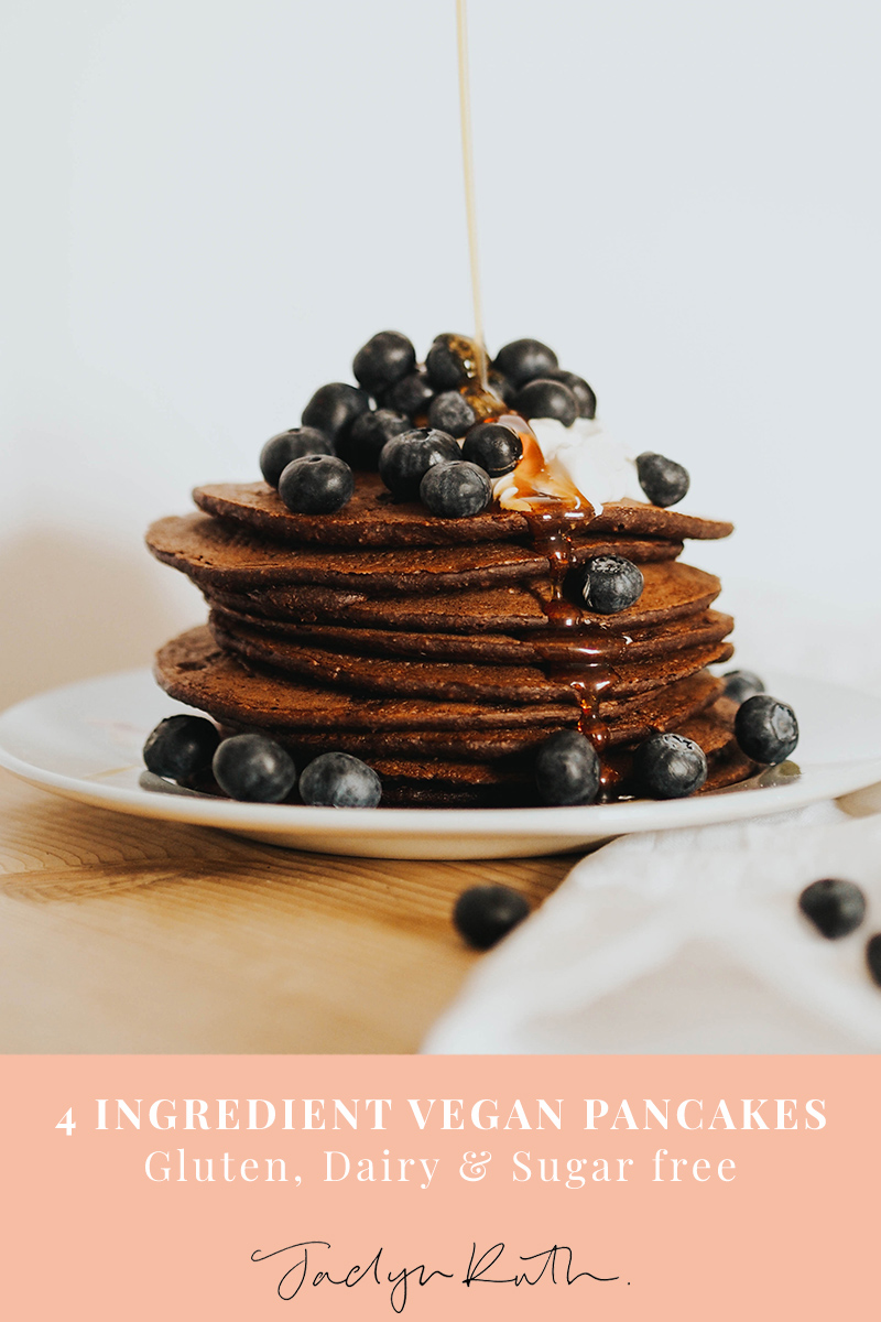vegan pancake recipe, Jaclyn Ruth