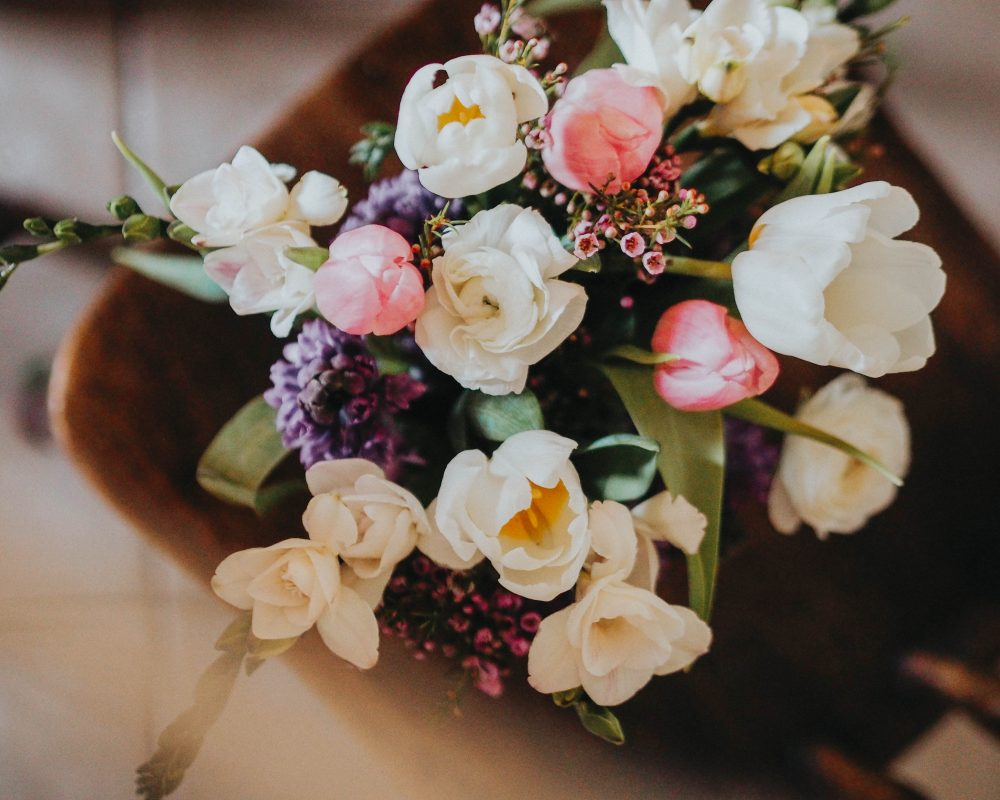 February floral bouquet styling, Jaclyn Ruth