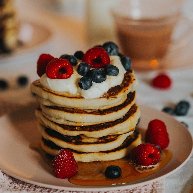 Extra fluffy gluten free and vegan pancakes, Jaclyn Ruth