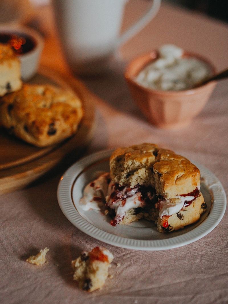 Indulgent gluten free fruit scones, Jaclyn Ruth lifestyle blog