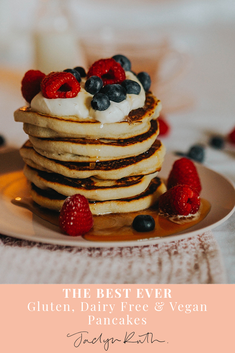 The best Ever gluten and dairy free pancakes