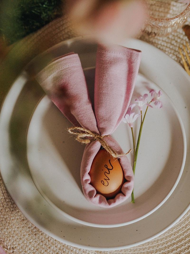 Bunny Ear napkin place settings, Jaclyn Ruth