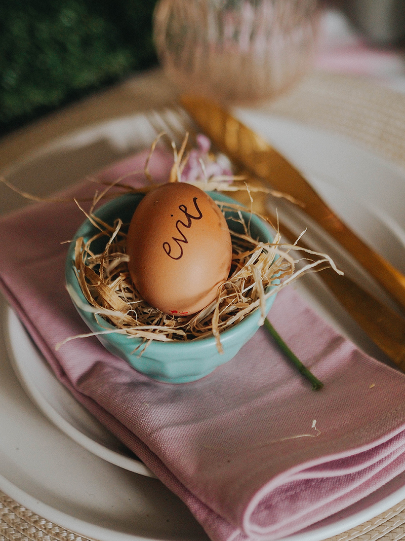 4 Cute ideas for Easter place settings, Jaclyn Ruth