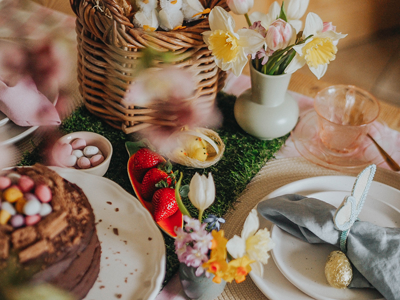 Easter tea party setting, Jaclyn Ruth